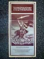 THE BEASTMASTER Original 1982 Australian Daybill Silver Foil Image Movie Poster