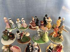 New ListingFranklin Mint Set Of 12 French Porcelain Figurines Fashionable Parisiennes 1984