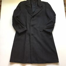 CasualCraft Gray Wool Blend Overcoat Mens Classic Formal Mens 46 Long
