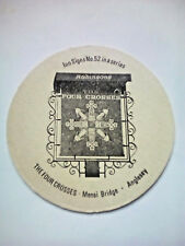 Vintage ROBINSONS - INN SIGNS - THE FOUR CROSSES  - Cat No'110 Beermat / Coaster