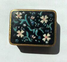 Volupte Vintage Hand Painted Flower Pill Box PRETTY