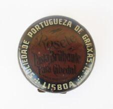 ANTIQUE VINTAGE ROSETE - SOCIEDADE PORTUGUEZA DE GRAXAS - LISBOA SHOE POLISH TIN