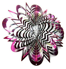 WorldaWhirl Whirligig 3D Wind Spinner Purple Star Crystal Ball Patio Twister SS