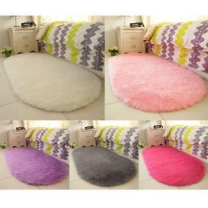 Home Bedroom Fluffy Rugs Anti-Skid Shaggy Area Rug Carpet Dining Room Floor Mat