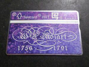 TELECARTE BELGIQUE, 105F0 MOZART, MUSIQUE, CELEBRITE'