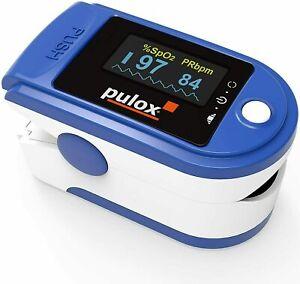 Pulsoximeter Pulox PO-200A Solo mit Alarm Pulston Puls und Sauerstoffsättigung ⭐