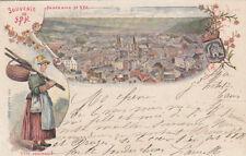BELGIQUE BELGIUM SPA souvenir panorama type ardennais timbrée 1897