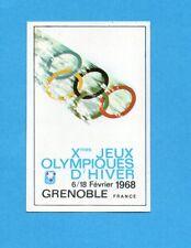 OLYMPIA-1972-PANINI-Figurina DA INCOLLARE! n.286- GRENOBLE 1968 -MANIFESTO -Rec
