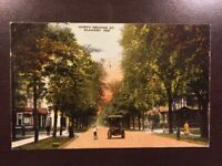 Vintage 1916 Postcard Elkhart Indiana North Second Street