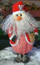 Weihnachtsmann Textil 40cm Jutesack  Fuß mit Sand gefüllt Dekoration Weihnachten