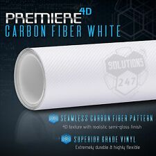 "24"" x 60"" In Vinyl Wrap Bubble Free Air Release - 4D White Carbon Fiber Gloss"