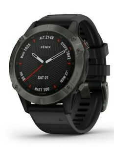 Garmin Fenix 6 Sapphire Multisport GPS Watch. Grey/Black Band. New watch!!!