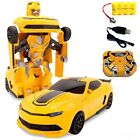 Transformer Bumblebee Remote Control Robot Toy Car for Boys, Lights & Sirens