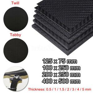 200*300 0.5-3mm Black Carbon Fiber Plate Panel Sheet Board 3K Twill Matte Weave