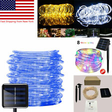 Solar Powered Rope Led String Fairy Lights Twinkle Outdoor Garden Patio Xmas