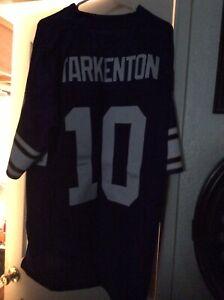 NFL Vikings Fran Tarkenton #10 Purple Throwback Jersey - Medium