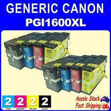 4x 8x Generic Ink 1600XL PGI1600XL for Canon Maxify MB2060 MB2160 MB2360 MB2760