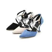 Womens High Stiletto Party Heels Ankle Cross Strappy Pointy Toe Work Roman Shoes