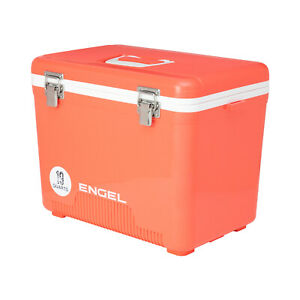 Engel 19 Qt 32 Can Leak Proof Odor Resistant Insulated Cooler, Coral (Open Box)