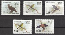 Sri Lanka 1983 Birds Set (5) Wood Pigeon, Coucal, White Eye MNH (SC# 691-4, 877)