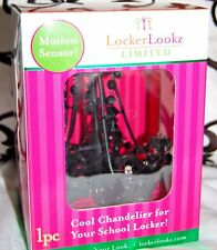 BRAND NEW LOCKER LOOKZ JEWELED LIGHT CHANDELIER MOTION SENSOR - BLACK