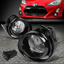 FOR 15-18 TOYOTA PRIUS C CLEAR LENS BUMPER DRIVING FOG LIGHT LAMP W/BEZEL+SWITCH