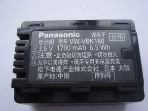 Batteria Originale Panasonic VW-VBK180 Genuino Batteria HDC-SD60 SDR-S50 SDR-S45
