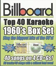 Billboard 1960's: Top 40 Karaoke Box Set [Box] by Karaoke (CD, Nov-2008, 4...