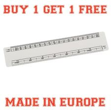 1 x 15cm Scale Ruler - Professional Quality Oval Scale Ruler Buy 1 Get One Free