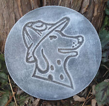 plastic plaque mold fireman dog dalmatian decorative stepping stone garden mold