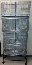 4 tier bird cage Parakeet Canary Finch small bird #2421 w/stand 4107 BLK-555