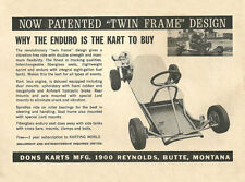 "Vintage 1964 Don's Karts & Mfg. ""Twin Frame"" Enduro Go-Kart Ad"