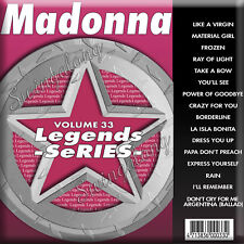 Genuine in Original Sleeve 3 Day ship ! Madonna Karaoke CDG Legends LEG033.