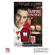 Vampir Eckzähne F/X Effect Make up mit Haftkleber Dracula Zähne für Erwachsene