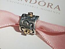 Authentic Pandora Life Path Diamond Bead RARE sterling silver 14k gold 790419D