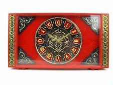 Vintage mechanical Table Clock MOLNIJA LAST CENTURY Soviet Russian USSR