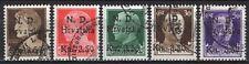 #1883 - Occupazioni, Croazia - Sovrastampa NDH su 5 francobolli, 1944 - Usati