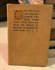 the centaur and bacchante maurice de guerin Gue�rin 1897 1st two prose poems pb!