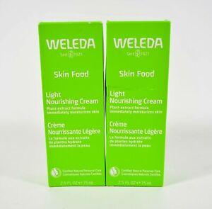 2 Weleda Skin Food Light Nourishing Cream 2.5 fl oz Plant Extract 10/2022