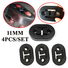 4X 11mm Exhaust Mount Rubber Insulator Grommet Hanger Bushing 2 Holes Support