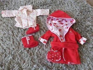 Our Generation Dolls Clothes Cherry Bath Robe A Tub Tub Dressing gown sleepover