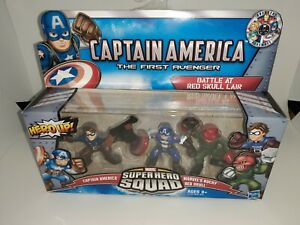 Hasbro Marvel Super Hero Squad Captain America Red Skull Bucky MISB FREE SHIP