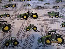 John Deere  baby toddler sheets set  tractors & combines tracks white