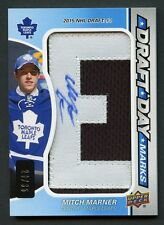 2016-17 MITCH MARNER ~ UP Draft Day Marks ~ #20/35 Letter 'E' ~ AUTO Patch RC