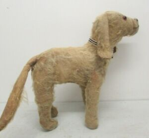 "VINTAGE MERRYTHOUGHT MOHAIR DOG STUFFED TOY CIRCA 1930's 14"" HIGH        #BH#"