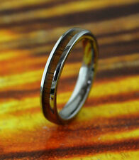 Wedding Band Tungsten Ring with Koa Wood Inlay 4mm,Dome Ring - Wedding Ring,Gift