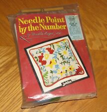 Scattered Flowers Jebba Design - Vtg 1972 Needle Magic Needlepoint Kit - Sealed
