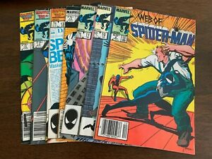 Web of Spider-Man #9 -15 (1985, Marvel) LOT OF 7 1st appearance Chance FN/better