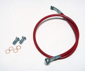 Pro Braking PBR4318-KAW-RED Rear Braided Brake Line Kawasaki Green Hose /& Stainless Red Banjos