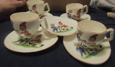 GC OR CTC  5 SAUCERS AND 4 TEA CUPS THEY HAVE ELFS ON THEM COULD BE FAIRIES RARE